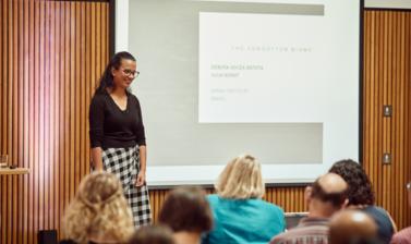 Forgotten Biome, Debora Souza Batista presenting
